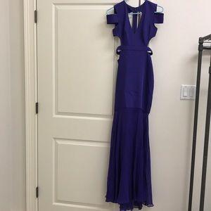 Gorgeous Purple Long cut out back BCBGMAXAZARIA